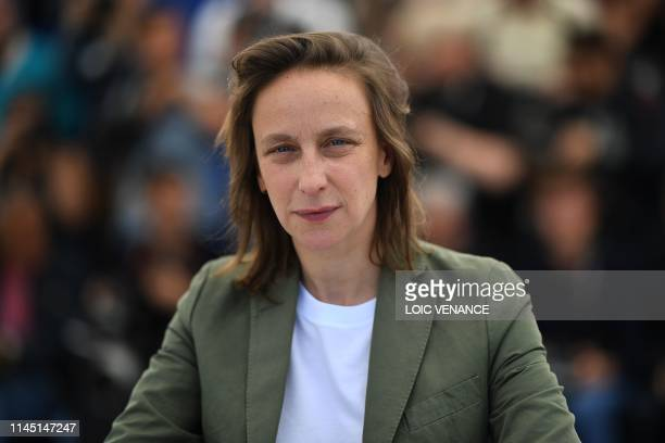 French director Celine Sciamma poses during a photocall for the film Portrait Of A Lady On Fire at the 72nd edition of the Cannes Film Festival in...