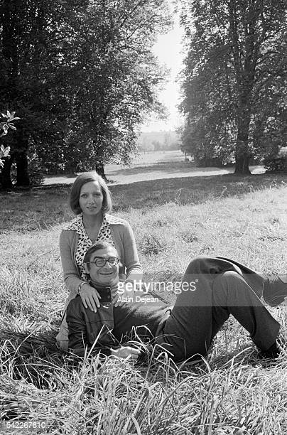 French director Claude Chabrol and his wife French actress Stephane Audran