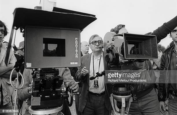 French director Claude Chabrol films a scene from his 1984 film Le Sang des Autres The movie based on the novel by Simone de Beauvoir was released in...