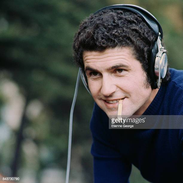 French Director Claude Lelouch on the set of his film Le Voyou