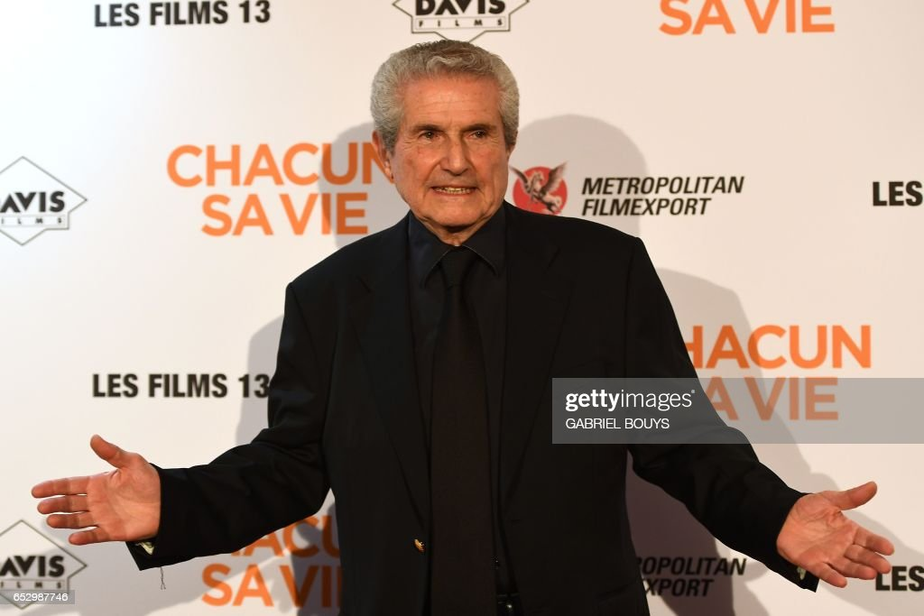 French director Claude Lelouch poses during the photocall for the premiere of his film 'Chacun Sa Vie' in Paris on March 13, 2017. /