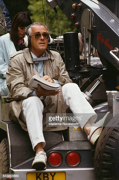 French director composer screenwriter and actor Michel Legrand on the set of his film Five Days in June