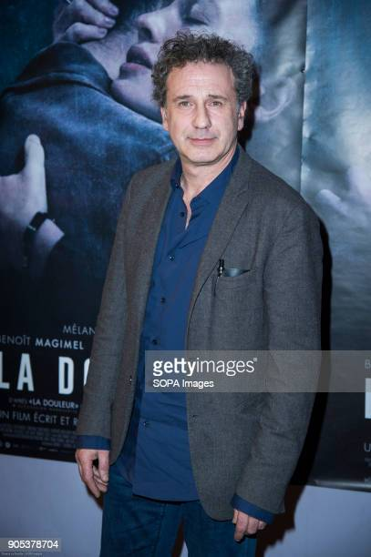 French director Emmanuel Finkiel at the premiere of 'La Douleur' at the cinema Gaumont Opera in Paris