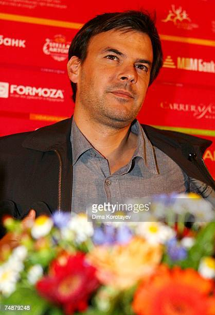 French director Francois Ozon takes part in a press conference for the film Angel at the 29th International Moscow Film Festival on June 23 2007 in...