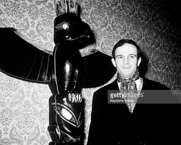 French director Francois Truffaut at the French Film Festival of Tokyo on April 4 1963 in Tokyo Japan