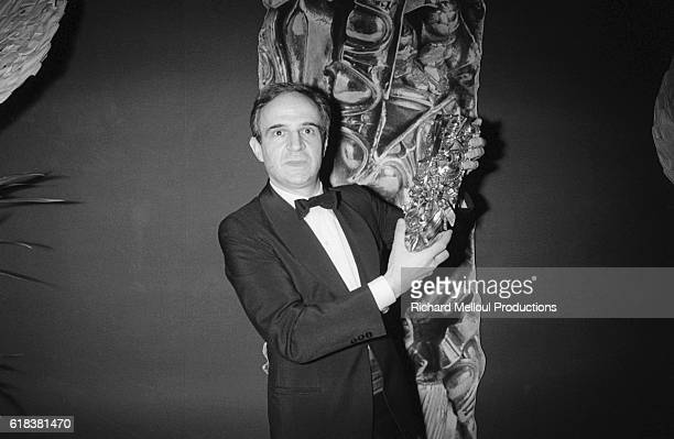 French Director Francois Truffaut is awarded a Cesar for his 1980 film Le Dernier Metro at the Cesar film award ceremonies held in Paris on January...