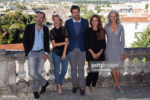 French director Franois Favrat actress Melanie Laurent actor Laurent Lafitte actress Audrey Dana and writer Tatiana de Rosnay pose during a photocall...