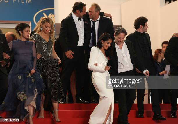 French director Gilles Lellouche and Belgian actor Benoit Poelvoorde French actress Noee Abita and Belgian actress Virginie Efira French actress...
