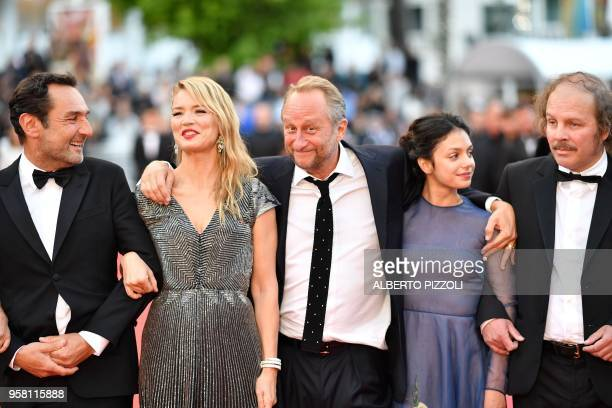 French director Gilles Lellouche Belgian actress Virginie Efira Belgian actor Benoit Poelvoorde French actress Noee Abita and French actor Philippe...