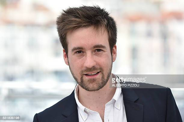 """French director Gregoire Leprince-Ringuet poses on May 17, 2016 during a photocall for the film """"Fool Moon """" at the 69th Cannes Film Festival in..."""