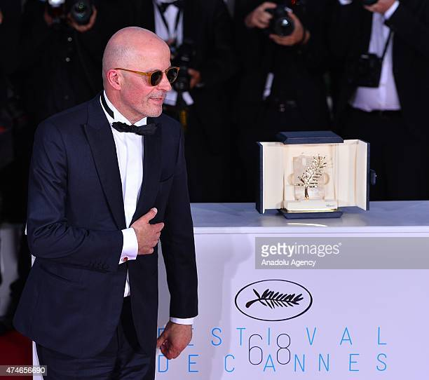 French director Jacques Audiard poses during the Award Winners photocall after he won the Palme d'Or award for 'Dheepan' at the 68th international...