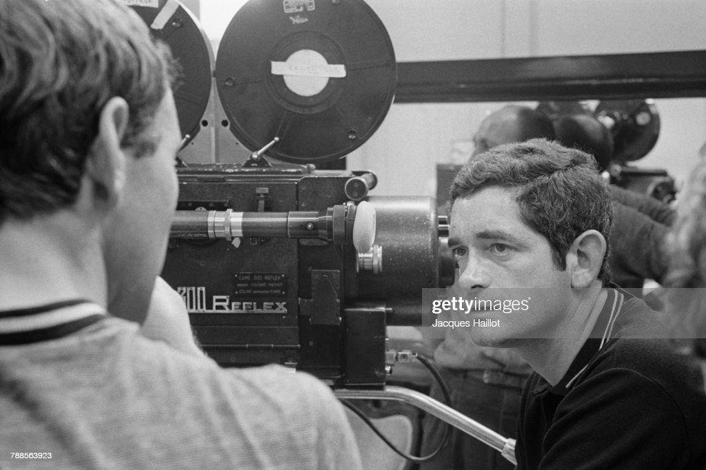 French director Jacques Demy on the set of his film Les Demoiselles de Rochefort (The Young Girls of Rochefort).