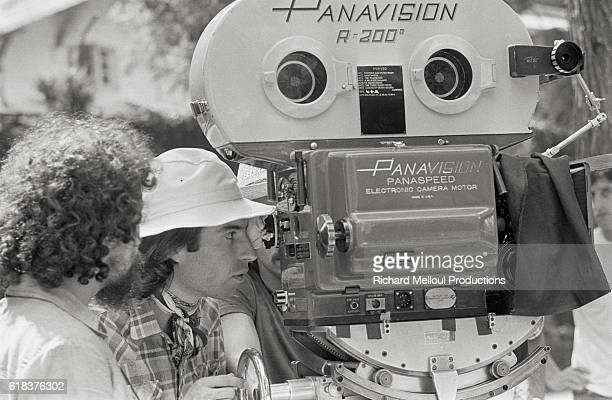 French director Jacques Doillon films on the set of his 1975 movie Un Sac de Billes starring Richard Constantini The film was based on Joseph Joffo's...