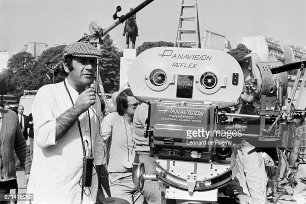 French Director Jean Yanne on the Set of Les Chinois a Paris