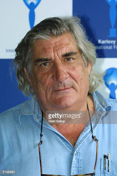 French director JeanClaude Brisseau arrives at the Karlovy Vary International Film Festival July 8 2003 in Karlovy Vary Czech Republic Brisseau is in...