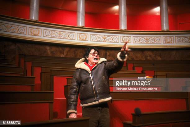 French director JeanPierre Mocky directs a scene from his 1988 film Une Nuit a l'Assemblee Nationale The movie featured actor Michel Blanc