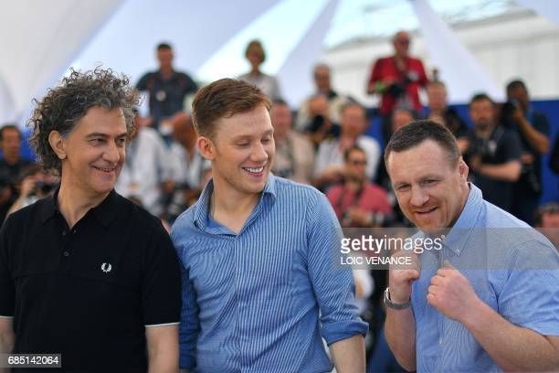 French director JeanStephane Sauvaire British actor Joe Cole and former British boxer and author Billy Moore pose on May 19 2017 during a photocall...