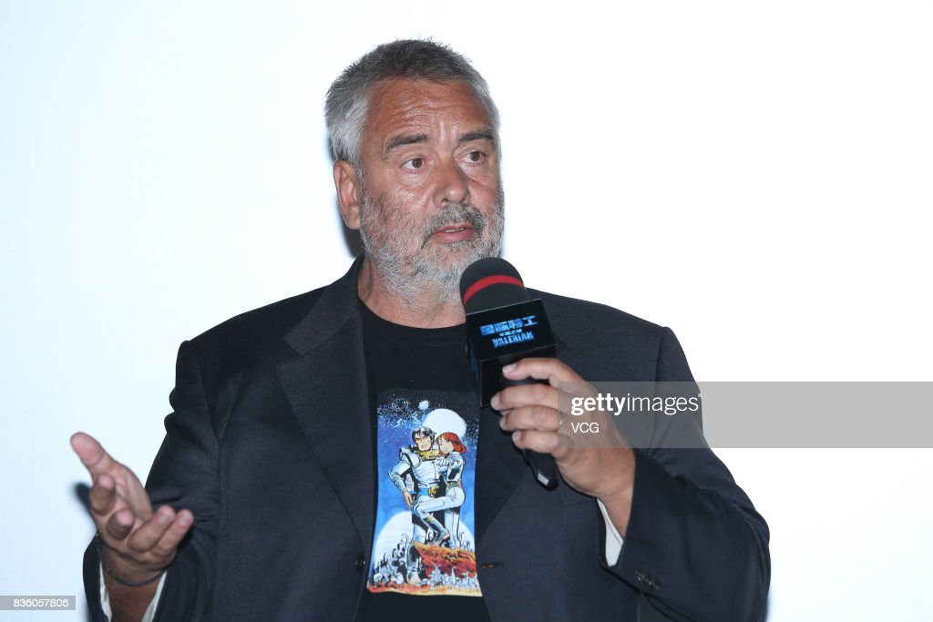 French director Luc Besson promotes his film 'Valerian and the City of a Thousand Planets' on August 20, 2017 in Beijing, China.