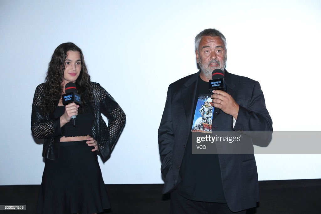 French director Luc Besson (R) promotes his film 'Valerian and the City of a Thousand Planets' on August 20, 2017 in Beijing, China.