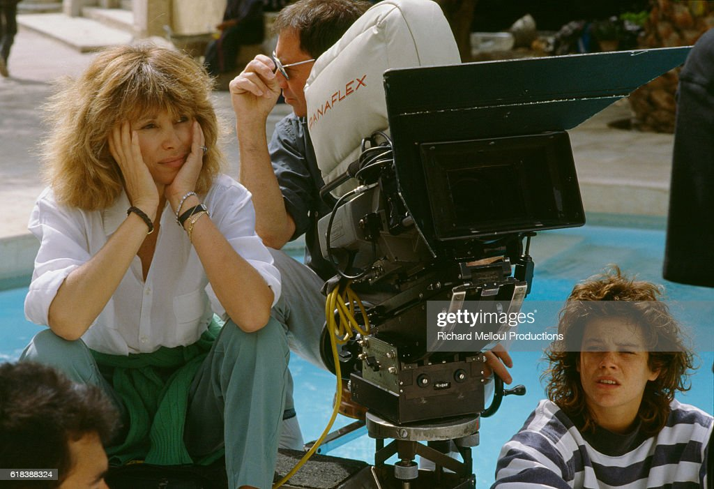 Director Mireille Darc While Filming La Barbare : News Photo