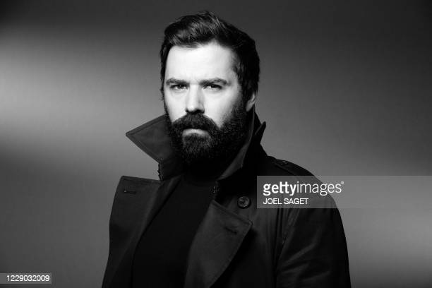 French director Nikola Lange poses for a photo session during the 3rd edition of the Cannes International Series Festival in Cannes, southern France,...