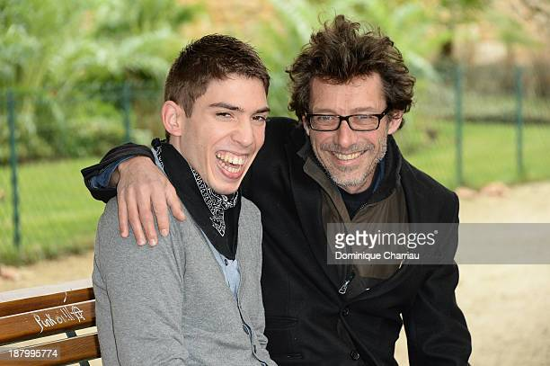 French Director Nils Tavernier and Fabien Heraud pose for the 'L'Epreuve d'une vie' photocall during the 22rd Sarlat Film Festival on November 14...