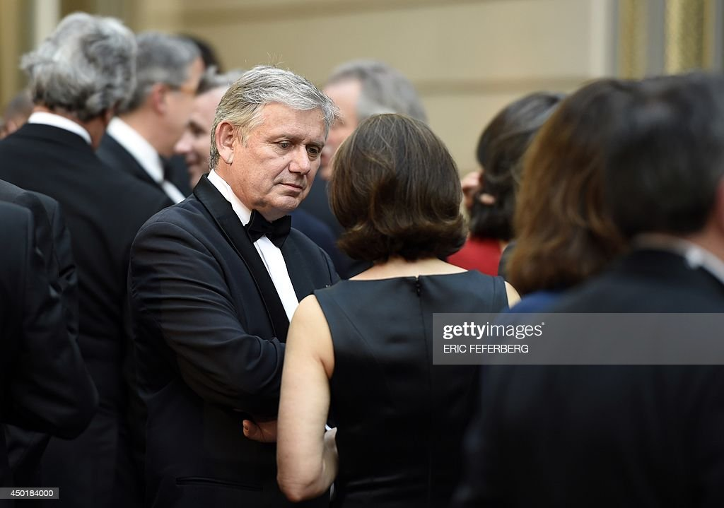 French director of AFP's London bureau Denis Hiault attends a state on