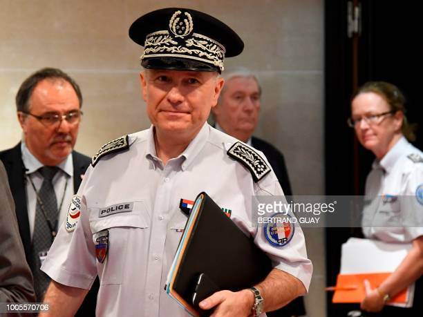 French director of public order of Paris Alain Gibelin arrives before appearing at the French National Assembly on July 26 2018 in the case of former...