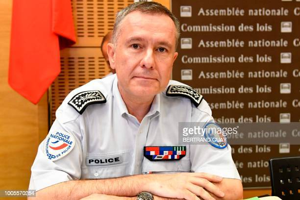French director of public order of Paris Alain Gibelin poses before appearing at the French National Assembly on July 26 2018 in the case of former...