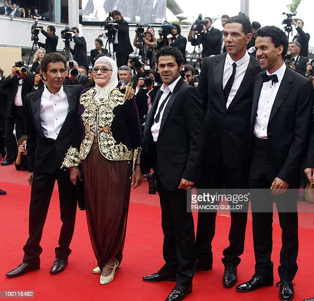 French director Rachid Bouchareb actress Chafia Boudraa French actor Jamel Debbouze French actor Roschdy Zem and French actor Sami Bouajila arrive...