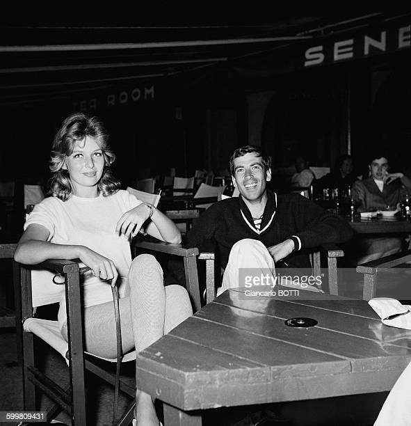 French Director Roger Vadim And Wife Danish Actress Annette Stroyberg In SaintTropez France circa 1960
