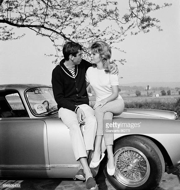 French Director Roger Vadim And Wife Danish Actress Annette Stroyberg In France Circa 1960