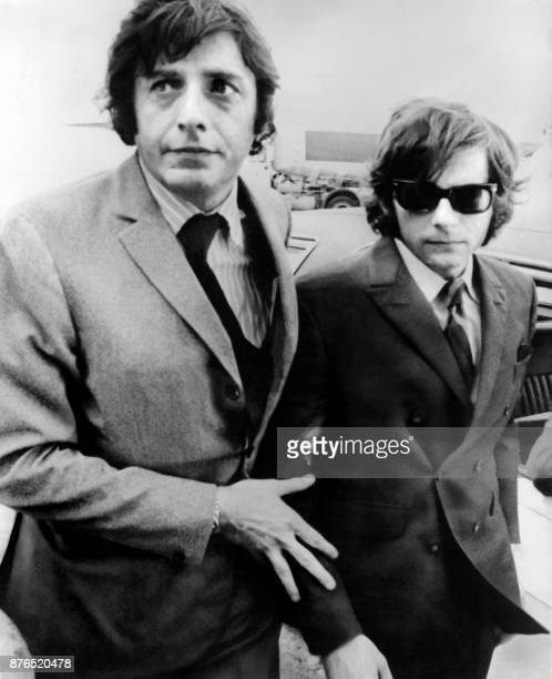 French Director Roman Polanski arrives at the airport in London on August 10 before departure to Los Angeles where his wife Sharon Tate was murdered...