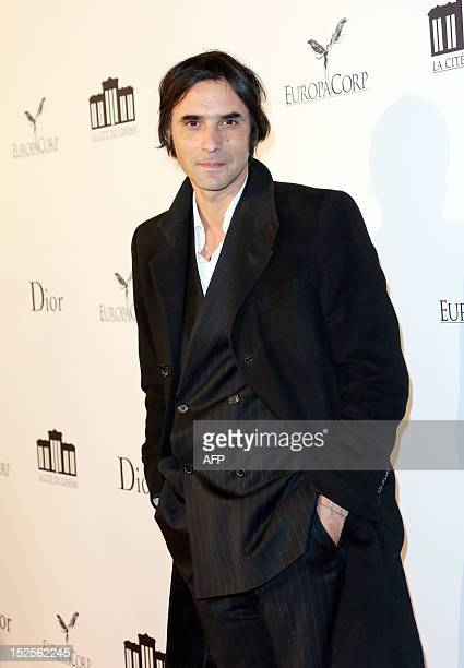 French director Samuel Benchetrit poses as he arrives to attend the inauguration ceremony of the Cite du cinema a film studios complex heralded as...