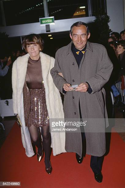 French director screenwriter and producer Alain Corneau and his partner director and writer Nadine Trintignant attend the 17th Cesar Awards ceremony...