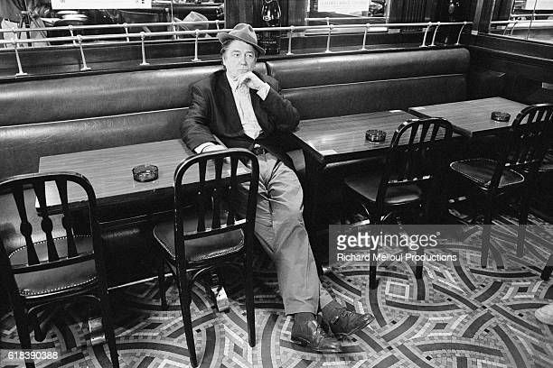 French director screenwriter and producer JeanPierre Mocky in a parisian cafe