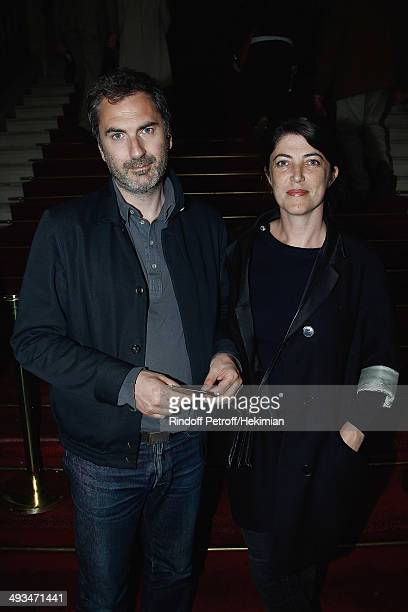 French director Xavier Giannoli and guest attend the Laurent Gerra 25 years carreer's show at Theatre du Chatelet on May 22 2014 in Paris France