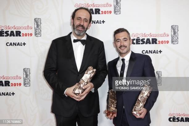 French director Xavier Legrand winner of the Best film award and Best Original Screenplay award for 'Jusqu'a la garde' , poses with the French...