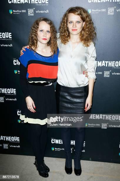 French directors Clara Laperrousaz and Laura Laperrousaz attend 'Soleil Battant' Paris Premiere at Cinematheque Francaise on December 6 2017 in Paris...