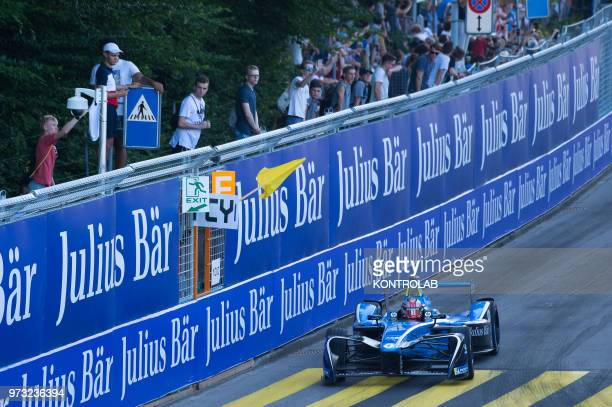 French dirver Nicolas Prost of Renault edams runs during the 1st Zurich EPrix