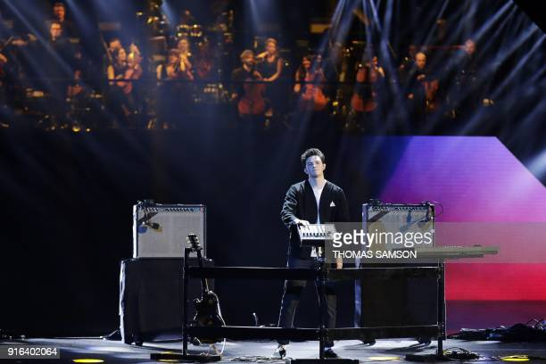 French DJ and music producer Mehdi Benjelloun aka Petit Biscuit performs on stage during the 33rd Victoires de la Musique the annual French music...