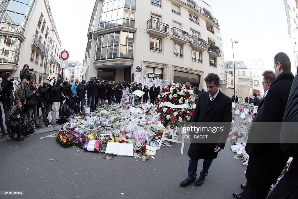 FRANCE-US-ATTACKS-CHARLIE-HEBDO-DE-BLASIO-HIDALGO : News Photo