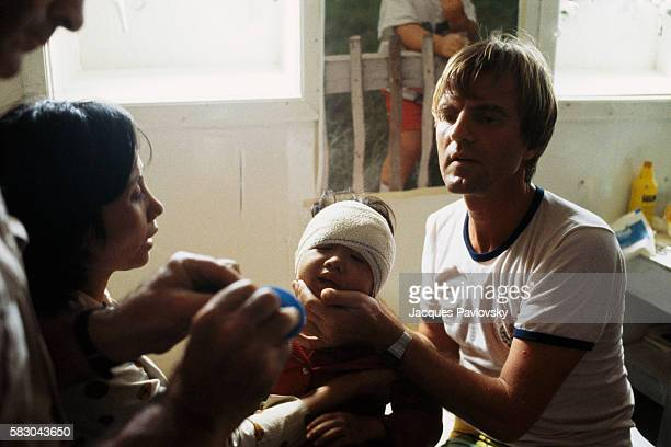 French Doctor Bernard Kouchner Assisting Vietnamese Boat People
