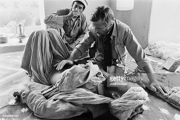 French doctor Bernard Kouchner cares for Afghan people in Wardak ProvinceFrench doctor Bernard Kouchner cares for Afghan people in Wardak Province...