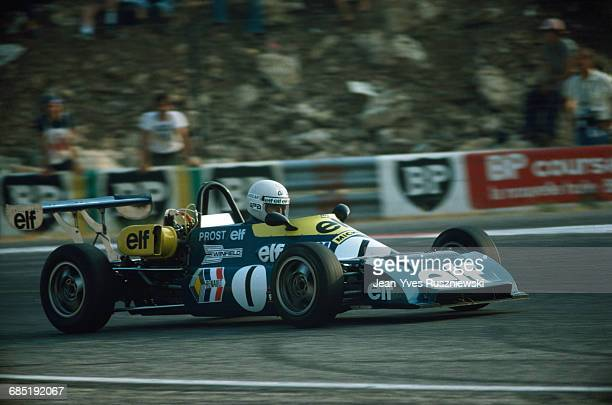 French driver Alain Prost during a French Formula Renault race in 1976