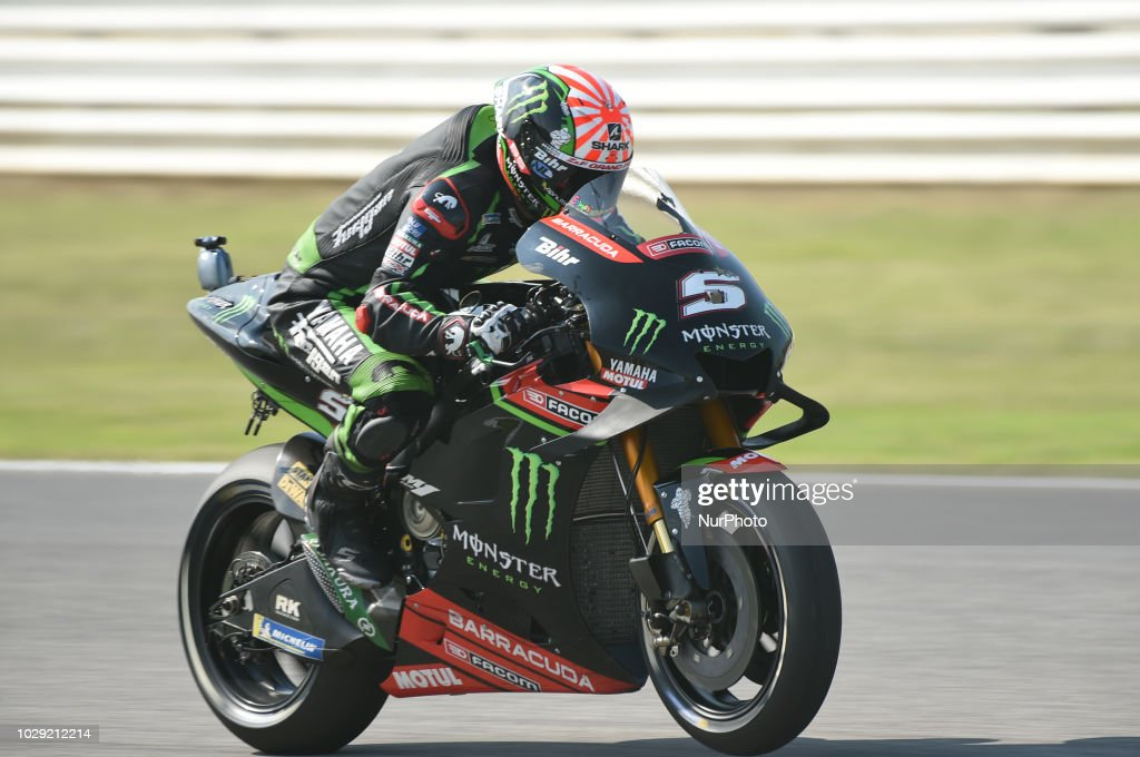5 French driver Johann Zarco of Team Monster Yamaha Tech 3 driving during qualifying in Misano World Circuit Marco Simoncelli in Misano Adriatico for San Marino and Riviera di Rimini GP on 8 September 2018.