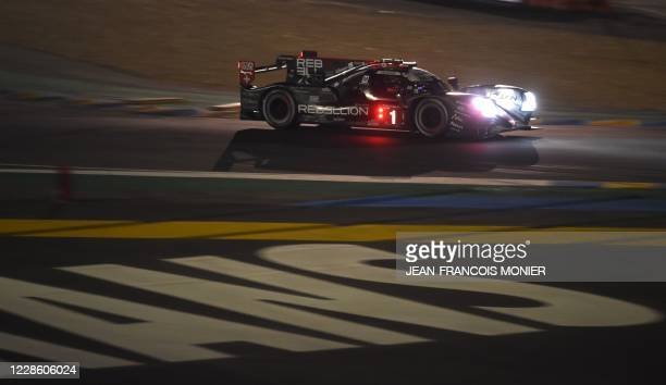 French driver Norman Nato competes in his Rebellion R13 Gibson LMP1 WEC, during the 88th edition of the Le Mans 24 Hours endurance race, at Le Mans...