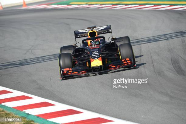French driver Pierre Gasly of Austrian Anglo team Aston Martin Red Bull Racing driving his singleseater RB15 during Barcelona winter test in...