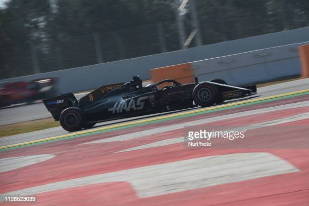 French driver Romain Grosjean of American team Rich Energy Haas F1 Team driving his singleseater during Barcelona winter test in Catalunya Circuit in...