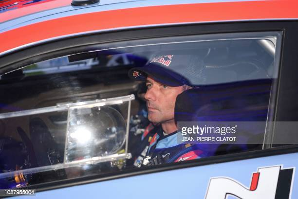 TOPSHOT French driver Sebastien Loeb looks on as he steers his Hyundai i20 WRC during the start of the seasonopening Monte Carlo Rally on January 24...